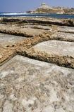 Salt pannor - Gozo - Malta Fotografering för Bildbyråer