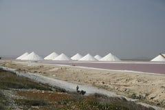 Salt pans royalty free stock image