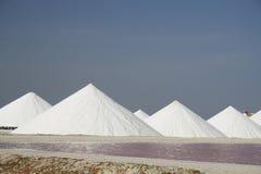 Salt pans Royalty Free Stock Photo