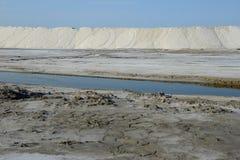 Salt pans Stock Images