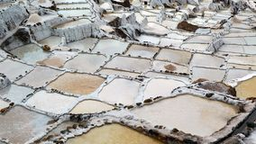 Salt Pans in Andes Mountains, Peru Royalty Free Stock Photography