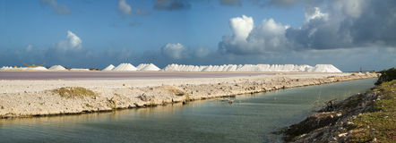 Salt pans Royalty Free Stock Photos