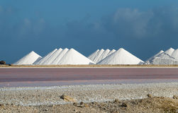 Salt pans Royalty Free Stock Images