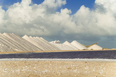 Salt pans Royalty Free Stock Photography