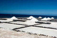 Salt pans of Fuencaliente stock images