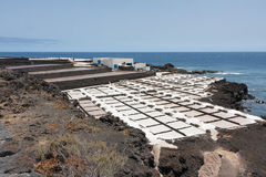 Salt pans of Fuencaliente at La Palma, Canary islands Stock Images