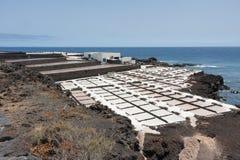 Salt pans of Fuencaliente at La Palma, Canary islands Stock Images