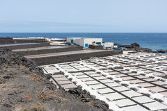 Salt pans of Fuencaliente at La Palma, Canary islands royalty free stock photo