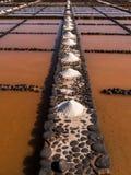 Salt Pans in Fuerteventura, Canary Islands Stock Photo