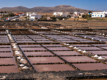 Salt Pans in Fuerteventura, Canary Islands Royalty Free Stock Photo