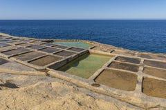 GOZO SALT PANS. THE SALT PANS OF GOZO ISLAND - MALTA royalty free stock photography