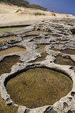Salt Pans - Gozo - Malta stock images