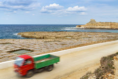 Salt pans in Gozo, Malta Royalty Free Stock Images