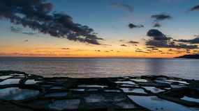 Salt pans Gozo. These 350-year-old salt pans, stretch about 3km along the coast Stock Images