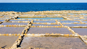 Salt pans Gozo Stock Images