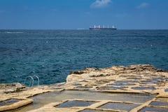Salt pans in Marsaskala, Malta Stock Photos
