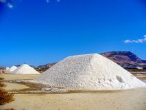 Trapani salt pans. Salt pans and a nature reserve at Mozia, near the town of Trapani in Sicily, Italy royalty free stock photography
