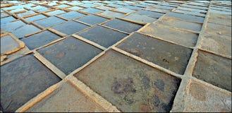 Salt pans mediterranean royalty free stock image