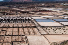 Free Salt Pans Of Janubio Stock Photography - 54625012