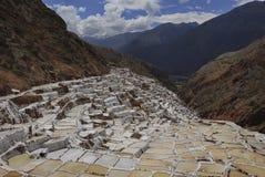 Salt pans, Peru Stock Image