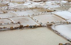 Salt pans in Peru Royalty Free Stock Photography