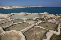 Salt pans, Peter's Pool, Malta Stock Photography