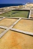Salt Pans - Qbaijar - Marsalforn - Gozo - Malta stock image