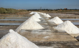 Salt pans on a saline exploration Stock Image