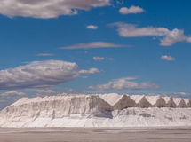 Salt Pan Hills in Spain Royalty Free Stock Photos
