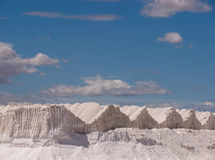 Salt Pans Hills in Spain Stock Image