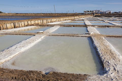 Salt Pans, Tavira Royalty Free Stock Images