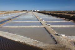 Salt Pans, Tavira, Algarve, Portugal Royalty Free Stock Photos