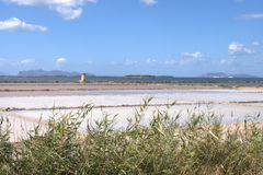 Salt Pans in Trapani. Salinas - Salt Pans in Trapani - Marsala royalty free stock photo
