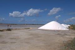 Salt Pans in Trapani. Salinas - Salt Pans in Trapani - Marsala Stock Image