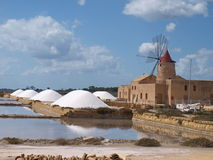 Salt Pans in Trapani. Salinas - Salt Pans in Trapani - Marsala stock photos