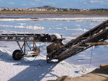 Salt Pans in Trapani. Salinas - Salt Pans in Trapani - Marsala royalty free stock photography