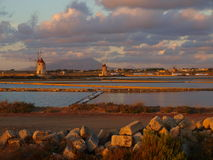 Salt Pans in Trapani Royalty Free Stock Photo