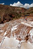 Cooperative salt pans in Maras 04 royalty free stock images