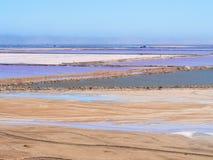 Salt pans in Walvis Bay, Namibia, Africa Stock Image
