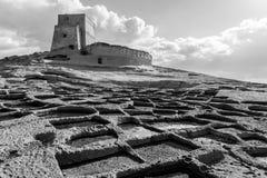 Salt Pans in Xlendi Gozo, Malta Stock Photos