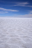 Salt pattern from bolivia Royalty Free Stock Photos