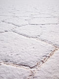 Salt pattern in the Salar de Uyuni Royalty Free Stock Images