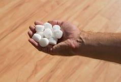 Salt pellets for the water softener.  Royalty Free Stock Image