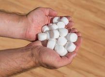 Salt pellets for the water softener.  Stock Photos