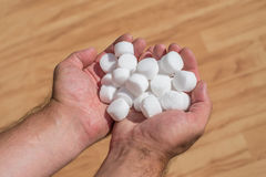 Salt pellets for the water softener.  Stock Photography