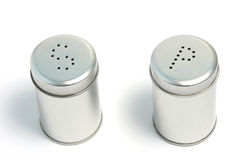 Salt and pepper 02. Salt and pepper cans with letters S and P Royalty Free Stock Image