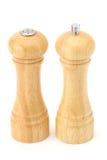 Salt and pepper. Salt shaker and pepper grinder Royalty Free Stock Photos