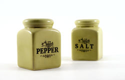 Salt and Pepper. Isolated on a white background Royalty Free Stock Photo