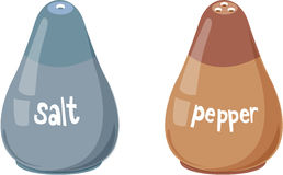 Salt and pepper bottles Royalty Free Stock Photo