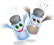 Salt & Pepper Characters Royalty Free Stock Images